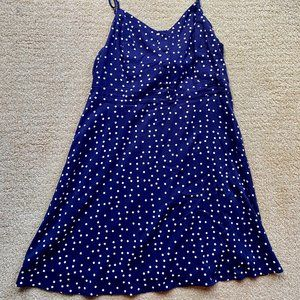 Market & Spruce Blue/White Polka Dot dress